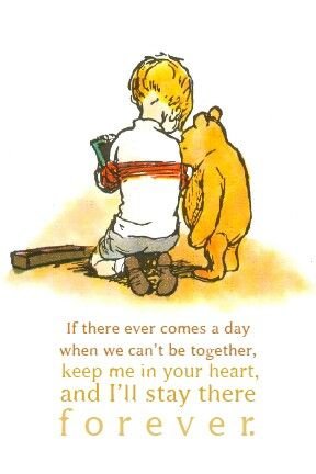 Ernest Shepherd Classic Pooh Illustration and AA Milne quote for baby shower