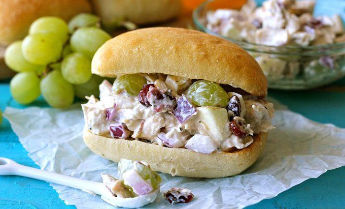 Lightened-Up Greek Yogurt Chicken Salad Sandwich Recipe