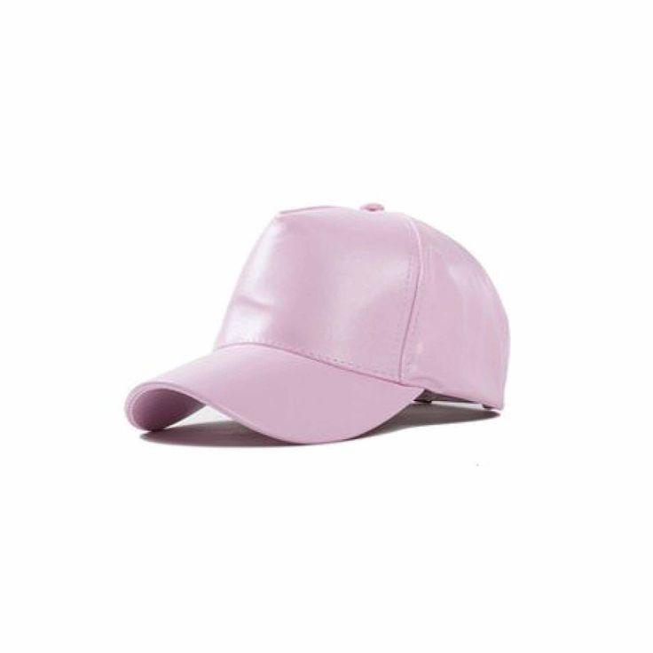 black leather baseball cap wholesale faux caps with fur pom