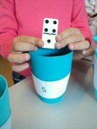 Simple addition with dominoes