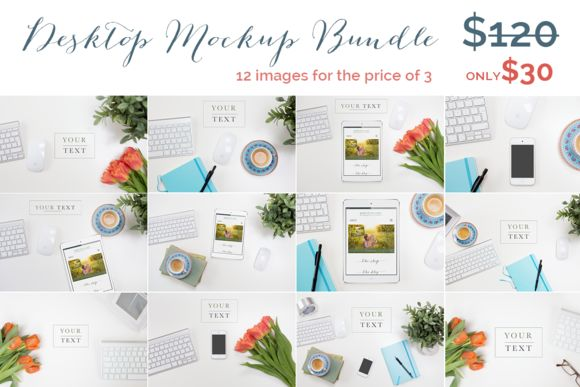 Styled Desktop Mockup Bundle by Square Balloon on @creativemarket