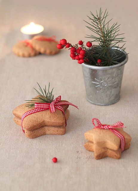 holiday packaging of gingerbread cookies