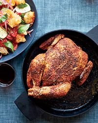 Roast Chicken with Panzanella Recipe on Food & Wine