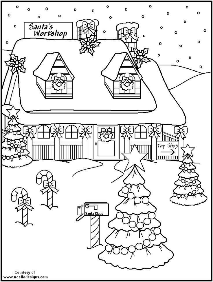 Santas Workshop Coloring P13