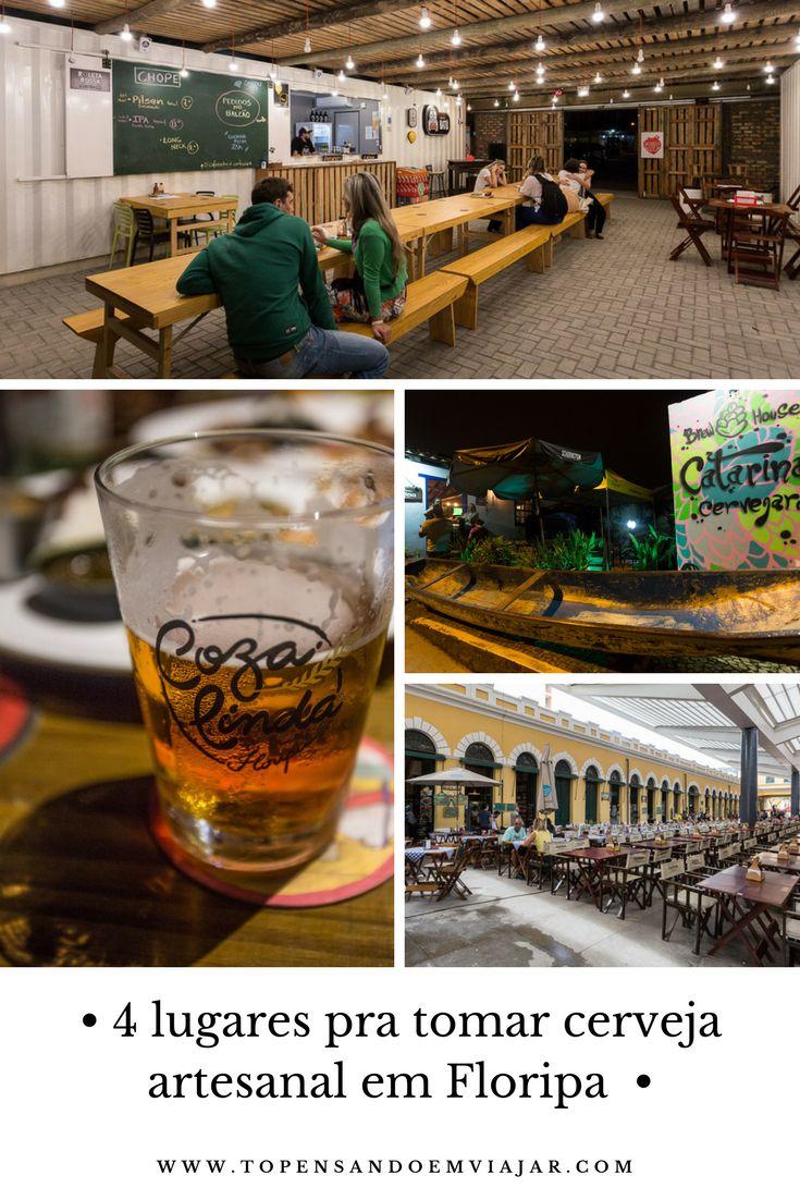 Conheça 4 lugares ótimos pra tomar cerveja artesanal em Floripa, a Ilha da Magia em Santa Catarina.