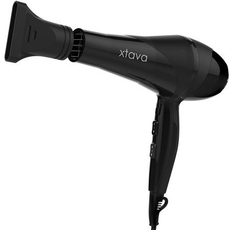 Free Shipping. Buy xtava Pro 2200 Watt Ionic Ceramic Hair Dryer, 2 Speeds, 3 Heat Settings, Black at Walmart.com