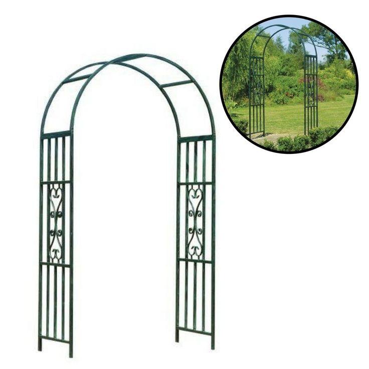 Garden Arbor Outdoor Wedding Green Metal Gate Patio Decor Yard Pergola #Unbranded
