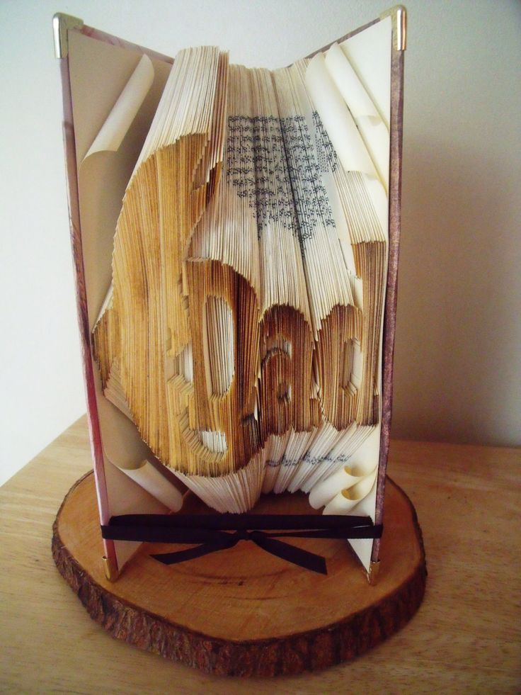 Dad and Fly Fishing Folded Book - Gift for Dad - Fathers Day Gift by CreationsByMEx on Etsy
