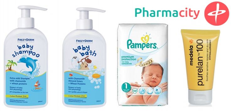 Γνωρίστε το πρώτο πακέτο προσφοράς μας, με 4 προϊόντα απαραίτητα για τη φροντίδα του μωρού αλλά και της μαμάς σε προνομιακή τιμή. Περιέχει τα: 1. Frezyderm Baby Shampoo (300ml):  2. Frezyderm Baby Bath (300ml) 3. Πάνες Pampers New baby sensitive no1 4. Medela Purelan (50gr)  Τιμή πακέτου μόνο 34,90! Θα το βρείτε εδώ: http://www.pharmacity.gr/Proion/12739-875/New-Baby-Paketo-#1/