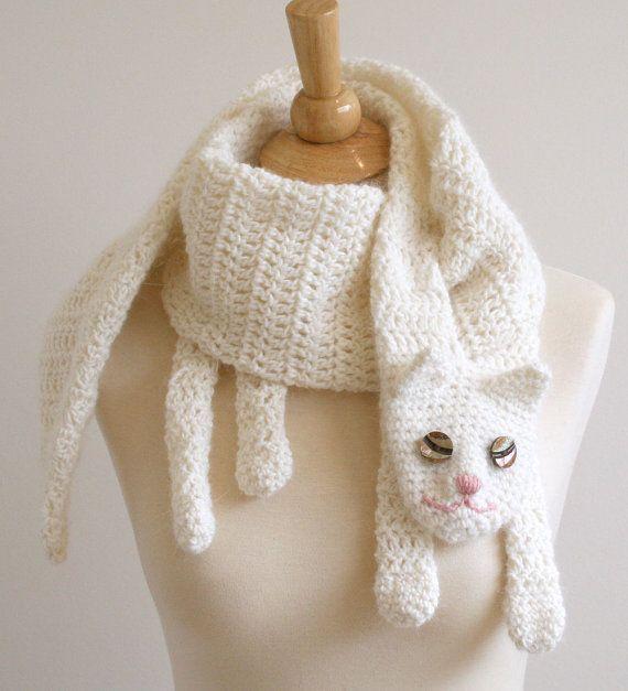 infinity scarf crochet pattern free | Crochet Pattern for Cat Cuddler Scarf DIY…