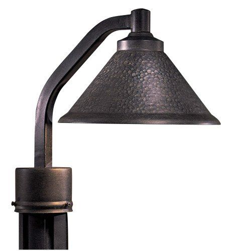 Kirkham Dark Sky Outdoor Post Mount Light by Minka Lavery. $59.99. Light the night, but not the night sky, with this Dark Sky regulation approved post light. A bent arm extends the light housing away from the post and directs light downward. Rated for full cut-off, the design features a warm hammered Aspen bronze finish. From Minka's Kirkham lighting collection. Pole not included.. Save 33%!