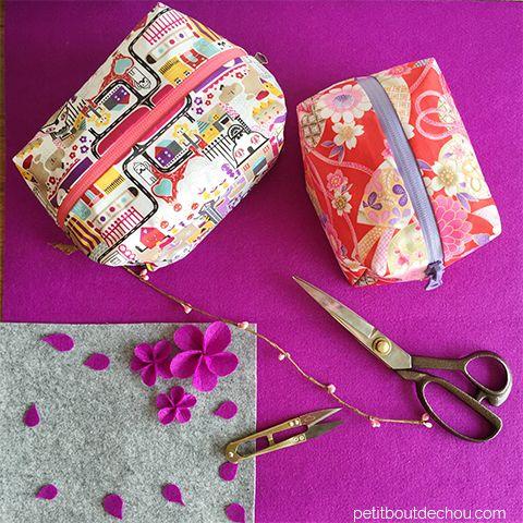 Kijk wat ik gevonden heb op Freubelweb.nl: een gratis patroon van Petit Bout de Chou om deze leuke vierkante boxtasjes te maken https://www.freubelweb.nl/freubel-zelf/zelf-maken-met-stof-tasje/