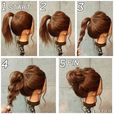 Einfache und schnelle Frisuren für mittelstarkes Haar #hair #updos #flechtfrisu… – Brot