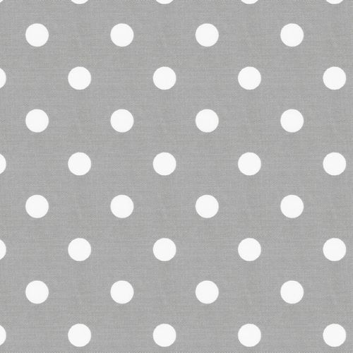 Gray and White Polka Dot Fabric by the Yard | Carousel Designs // for crib sheet (2 yd/sheet)