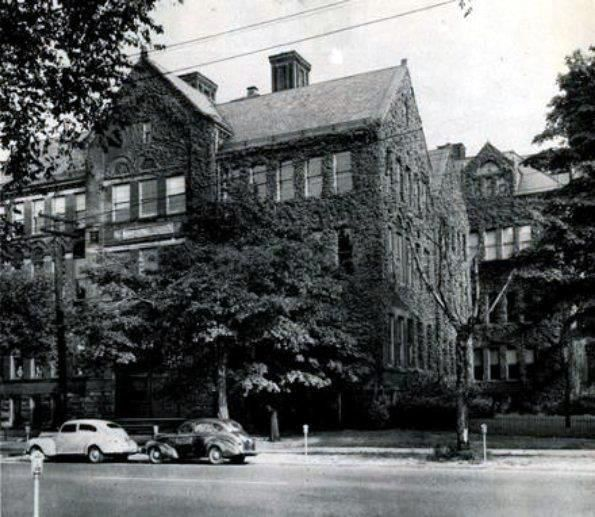Central Tech High School, Sassafras Street between 10th and 11th Streets  (1940s)