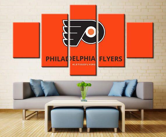 Philadelphia Flyers Wall Art Home Decor / NHL Flyers Sports Canvas Print /  Gifts for Him / Hockey Wall Art