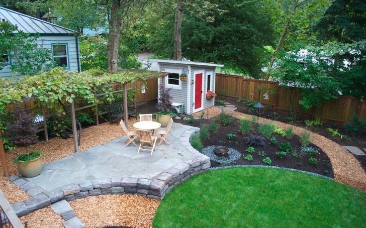 Backyard Hardscape Images : Hardscape  Backyard Layouts  Pinterest