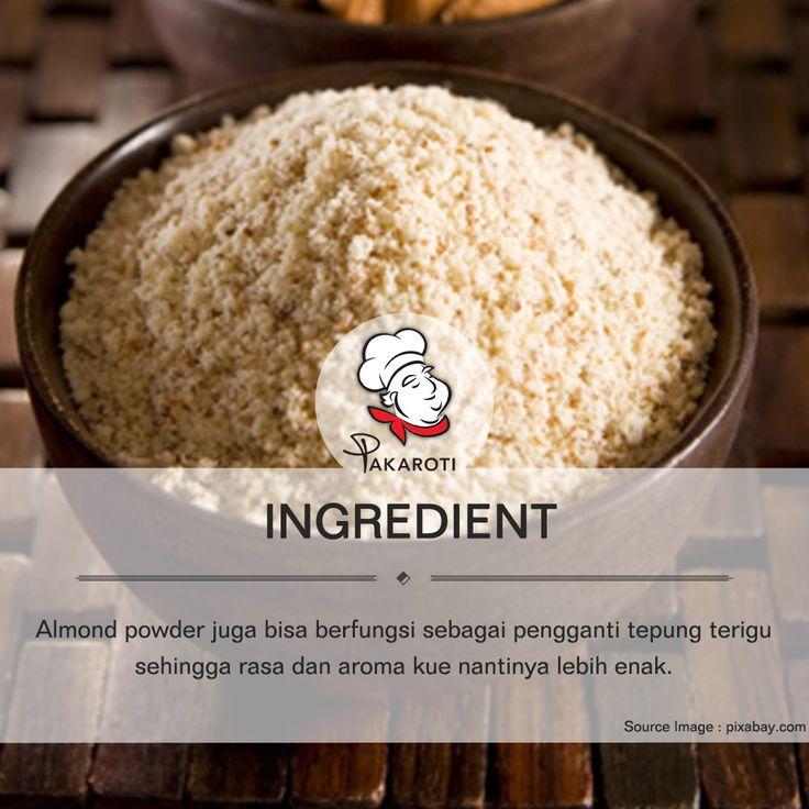 ALMOND POWDER BISA GANTIKAN TEPUNG TERIGU - [pakaroti.com/material/almond-powder]  Almond powder juga bisa berfungsi sebagai pengganti tepung terigu sehingga rasa dan aroma kue nantinya lebih enak. Pengaplikasiannya sendiri bisa ditemukan pada resep macaroon. #Ingredient
