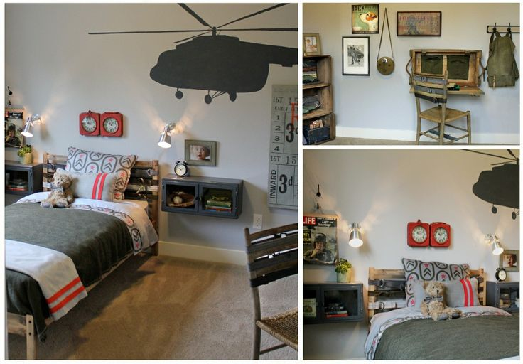 Military themed little boys room my design work pinterest for Boys army bedroom ideas