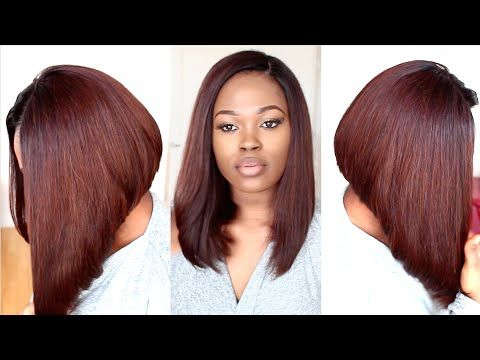 Fun Violet Bob(Start to Finish Tutorial On Coloring, Cutting, & Styling A Bob Hairstyle) - YouTube