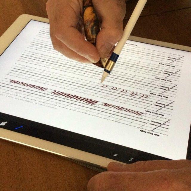 Ipad Pro+Apple Pencil+Miles Holder  Everytime, Everywhere Calligraphy #ipad…