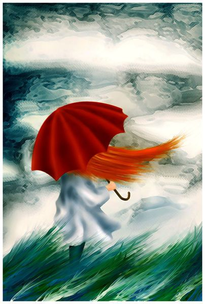 Windy day by Zsuzsa Boldogh on artflakes.com as poster or art print $16.63