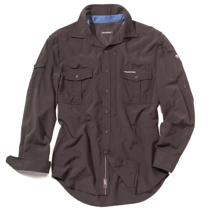NosiLife Long-Sleeve Shirt. The ultimate adventure travel shirt with impressive NosiLife permanent insect-repellent performance, solar shield sun-protective fabric with SPF 40+, cooling solar collar, 2 zip-fastening pockets plus hidden security pocket, and quick drying material. #travel #clothing #gift