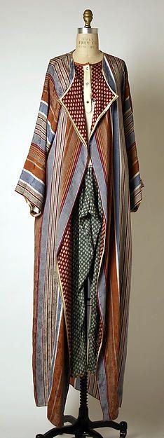 Ensemble by Geoffrey Beene, USA, 1980-82, silk, metallic, glass. MetMuseum, USA