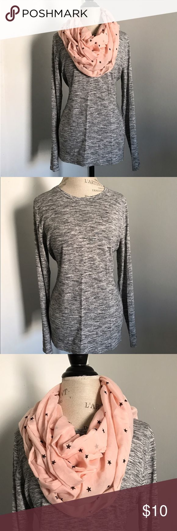 Top and infinity scarf Long sleeve top in good condition goes very nice with leggings infinity scarf in very good condition top size L Accessories Scarves & Wraps
