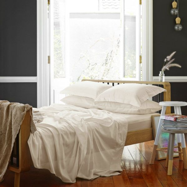 Classic Luxe Bed Sheet Set In Shell from Sheets on the Line