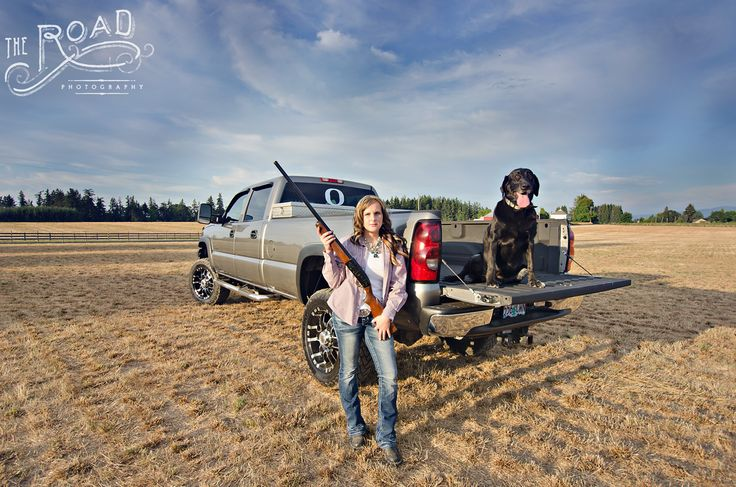 Senior Country Girl  The Road Photography www.theroadphotography.com Senior, country, dog, truck, gun, western, poses, senior girl poses