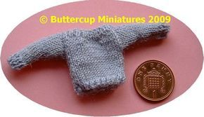 1:12th scale Childs simple jumper (to fit a 4 inch/10 cm doll) Abbreviations: st-stitch; k-knit; p-purl; sst-stocking stitch [1 row knit, one row purl]; sl 1-slip next stitch from one needle to the…