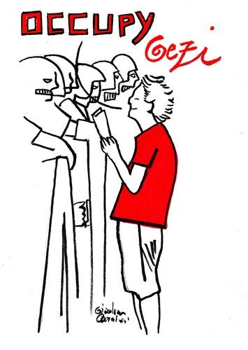 Cartoon: Occupy Gezi (medium) by Political Comics tagged occupygezi,direngezipark,taksim,istanbul