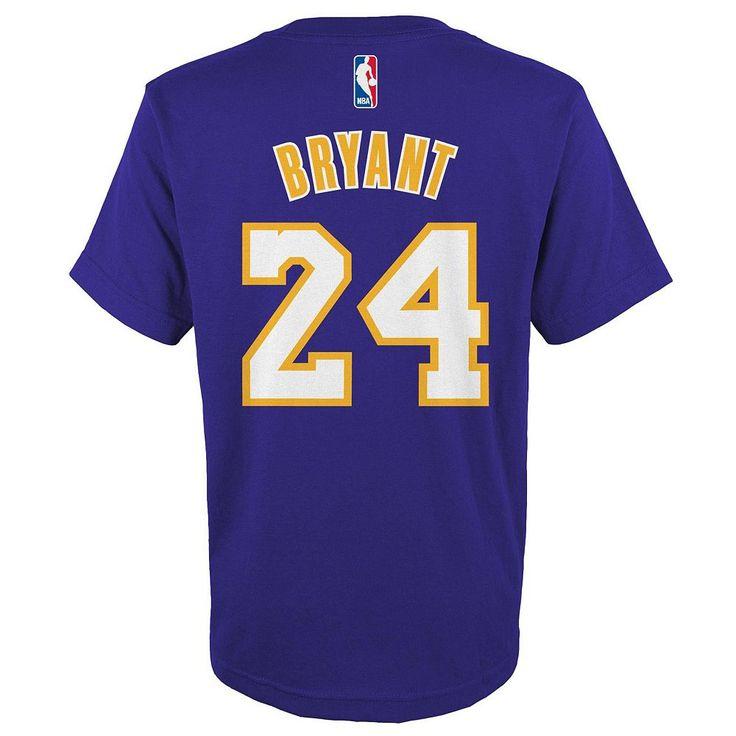 Boys 8-20 Adidas Los Angeles Lakers Kobe Bryant Player Tee, Size: Large, Ovrfl Oth