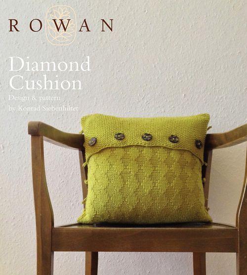 FREE ROWAN PATTERN: Diamond Cushion by Konrad Siebenhüter, made with Rowan Pure Wool Worsted.