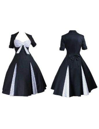 Polka Dot Sweetheart 50's Pin-Up Rockabilly Party Swing Jive Bunny Dress. Regular & Plus Sizes 8-28: Amazon.co.uk: Clothing