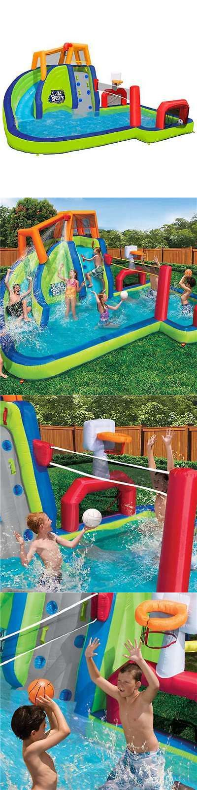 Water Slides 145992: Banzai Inflatable Aqua Sports Splash Pool And Slide Backyard Water Park (Open Box) -> BUY IT NOW ONLY: $524.95 on eBay!