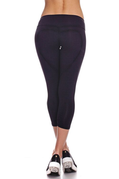 Heart Butt Yoga Capri - Black from Nina B Roze. Black Yoga Capris Shop our signature design Heart Butt™ yoga capri in our latest high waist fit. These luxury capri yoga pants have been rated the best selling compression capri since 2012 and hold that title for good reason! This esthetically pleasing design will carry you from the gym to your daily activities effortlessly. Our compression fibers absorb and repel liquids from your body, leaving you sweat free by absorbing moisture from your…