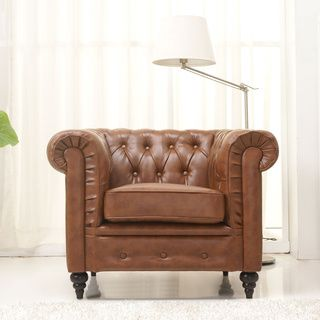 this armchair is upholstered in durable premium bonded leather with detailed stitching find this pin and more on accent chairs