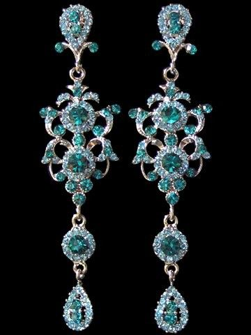 Antique Aquamarine Chandelier Earrings- Ok, TOTALLY too extravagant unless I was going to a ball but. . . Prrrrrrrr lol