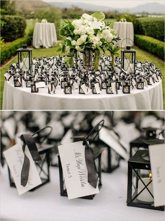 little lantern escort cards / http://www.himisspuff.com/creative-seating-cards-and-displays/