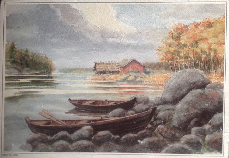 Kimmo Pälikkö Taidepostikortti 1988 Sisäjärvi