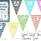 Here is a beautiful chevron word wall to pretty up your classroom.  Just print, laminate, cut out and hang--Viola!  Your word wall will be gorgeous...