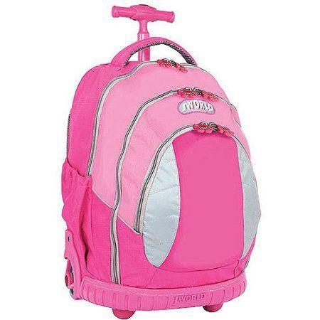 J World Sweet Kids Rolling Backpack, Pink