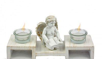 Mécsestartó szett angyalos 4 részes