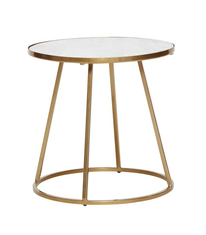 Petite Table Basse Blanche Or Hubsch Brass Side Table Round