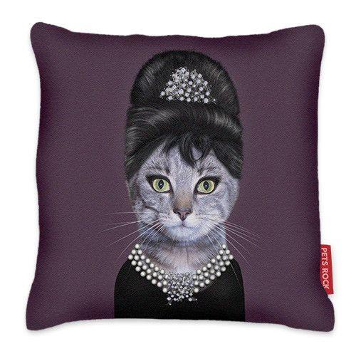 Pets Rock Breakfast Cushion -Audrey Hepburn #audreyhepburn