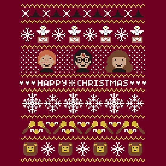 Happy Christmas, Harry! For the Hogwarts ugly sweater party.