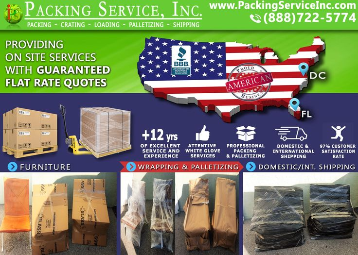 Wrapping 2 Chairs And Shipping From Florida To DC With Packing Service,  Inc. Whether