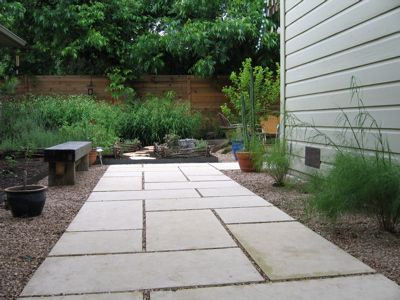 I like this idea for side yard Simple Patio